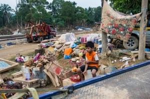 Tinggalan selepas banjir surut / Krai, Kelantan
